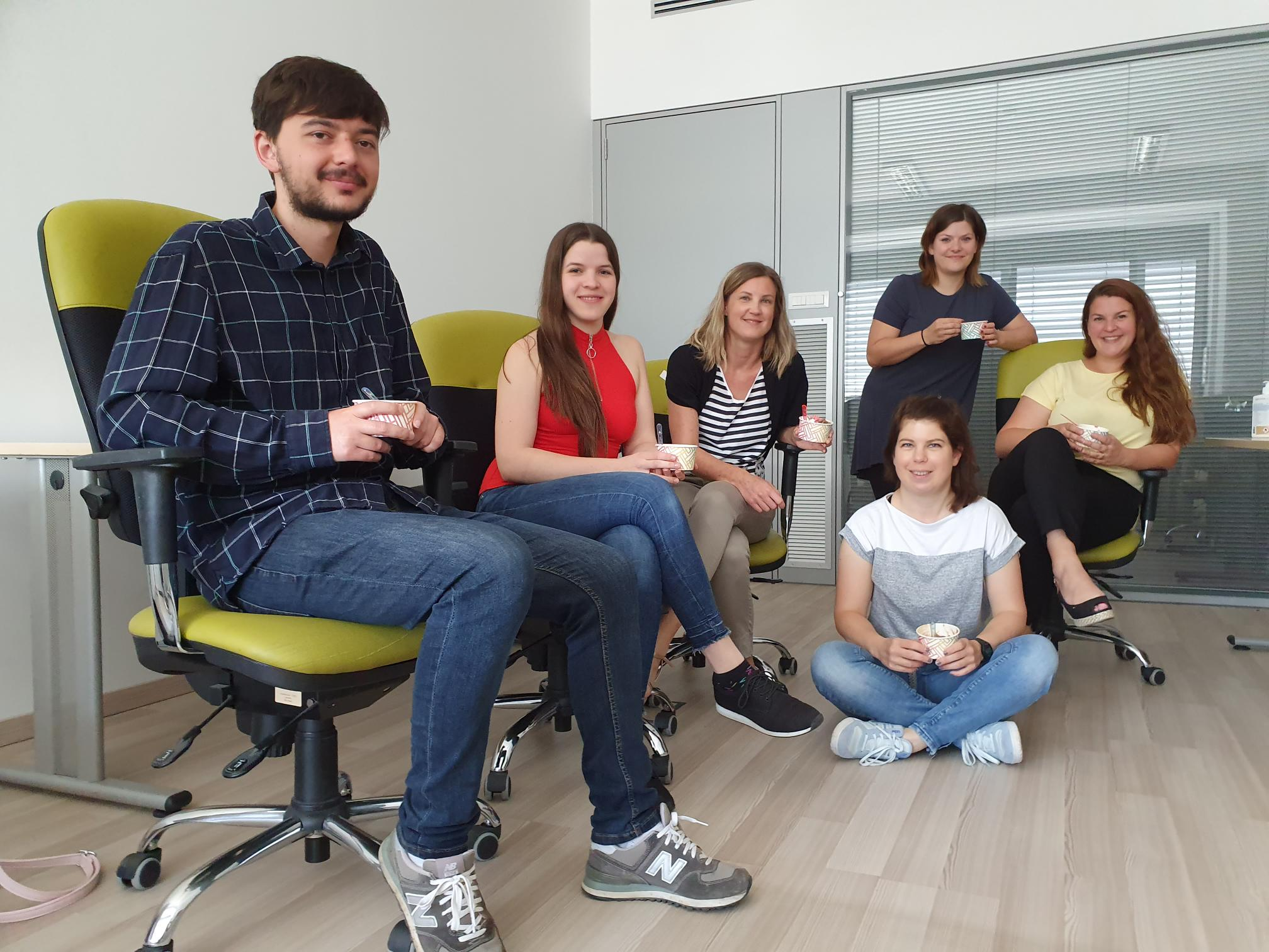 Meet the XLAB marketing team: Ferdi, Špela, Katja, Jasna, Diana and Anja.
